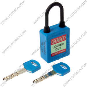 Dielectric Safety Lockout Padlock BLUE