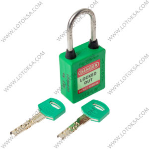 Safety Lockout Padlock GREEN