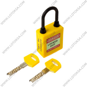 Dielectric Safety Lockout Padlock Yellow